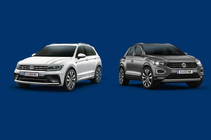VW T-Roc und Tiguan