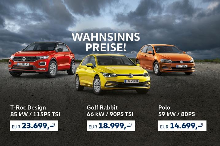 Wahnsinns Preise VW Aktion