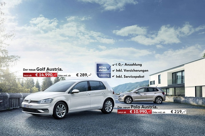VW Austria Modelle